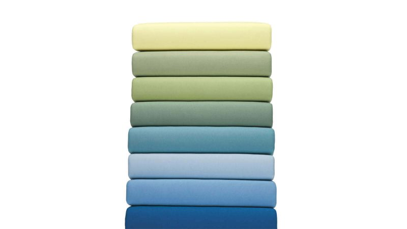 Jersey Spannbezug blau, grün, gelb