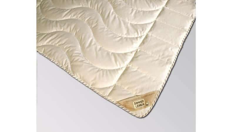 Bettdecke Sommerdecke Leinen, Bezug 100% Baumwolle